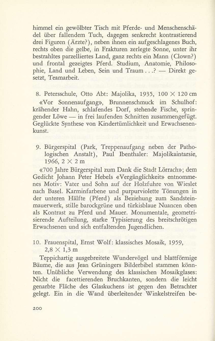 Basel – Stadt der Mosaiken? - Basler Stadtbuch 1967