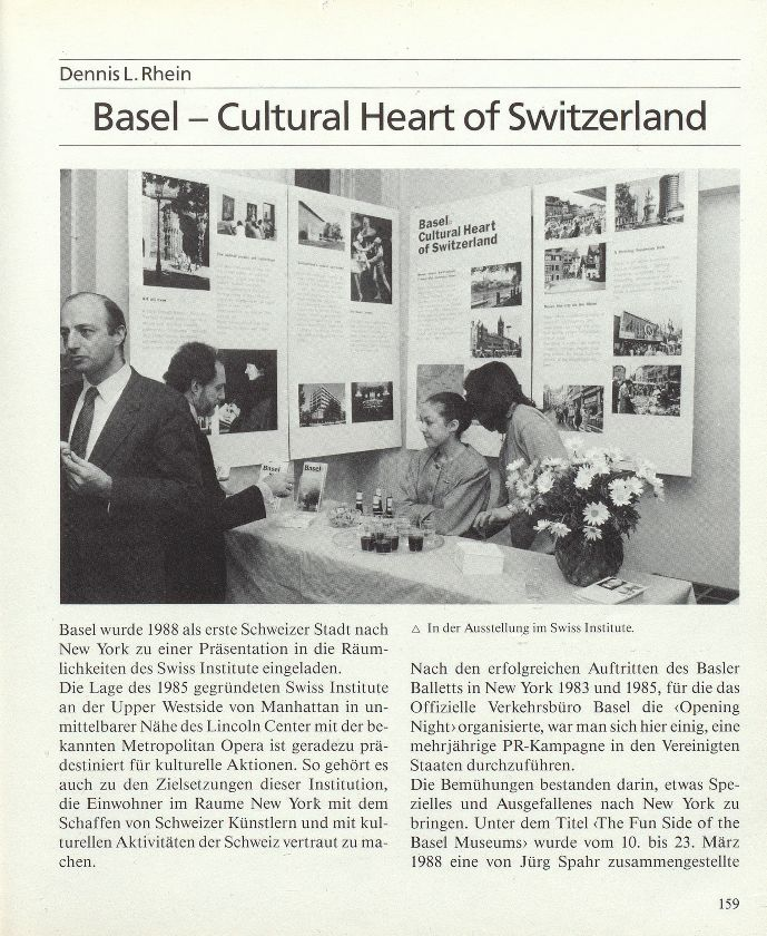 Basel – Cultural Heart of Switzerland – Seite 1